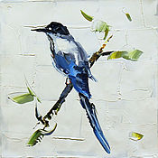 """Картины и панно ручной работы. Ярмарка Мастеров - ручная работа Картина маслом """"Синяя птица счастья N2"""", серия """"Птицы"""". Handmade."""
