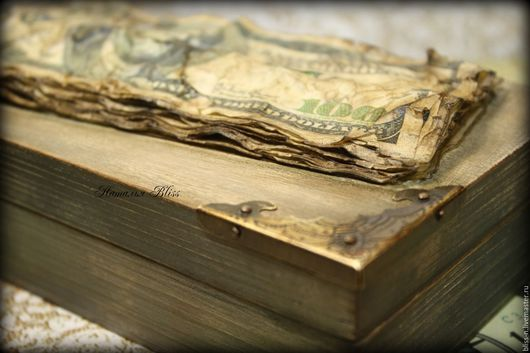 """Шкатулки ручной работы. Ярмарка Мастеров - ручная работа. Купить Купюрница """" Money"""". Handmade. Бежевый, шкатулка для денег, монетка"""