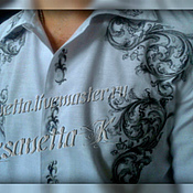 Одежда handmade. Livemaster - original item Shirt for men with embroidery
