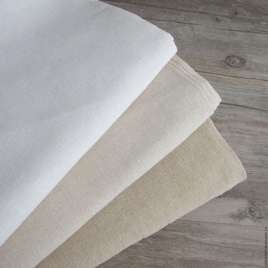 Ткань лен натуральный. 3 оттенка