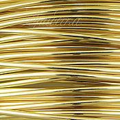 Проволока Gold Filled 0.81мм мягкая золотая Beadsmith (США) 0.5м