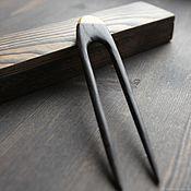 Украшения handmade. Livemaster - original item Wooden hair pin with amber. Handmade.