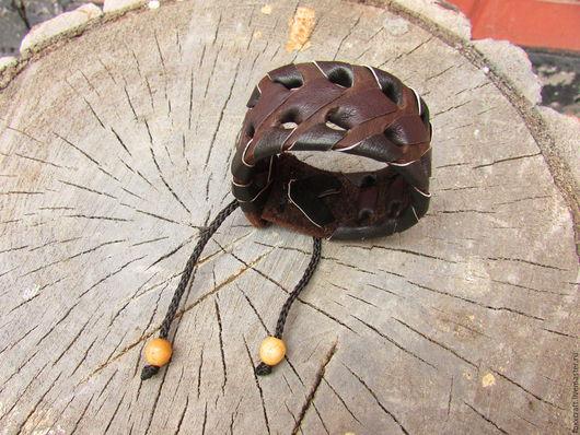"""Браслеты ручной работы. Ярмарка Мастеров - ручная работа. Купить Кожаный браслет """"Полоз"""". Handmade. Браслет, кожа, змея"""