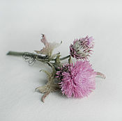 Цветы и флористика handmade. Livemaster - original item Flowers made of fabric. Silk flowers.Thistle.. Handmade.