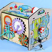"""Бизиборды ручной работы. Ярмарка Мастеров - ручная работа Бизидомик """"Малышок Цветной"""". Handmade."""