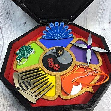 Dolls & toys handmade. Livemaster - original item BOX STONES OF MIRACLES, LADY BUG AND SUPER CAT NO. №2. Handmade.