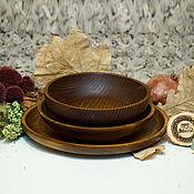 Посуда handmade. Livemaster - original item Set of Wooden Plates (3#36. Handmade.