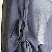 Одежда ручной работы. Ярмарка Мастеров - ручная работа Бомбер 2080 шифон, черный. Handmade.