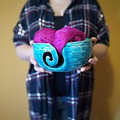 """Инструменты для вязания ручной работы. Ярмарка Мастеров - ручная работа Клубочница """"Бирюза в камне"""". Handmade."""