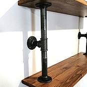 Материалы для творчества handmade. Livemaster - original item Bracket for shelves made of pipes in Loft style, Industrial. Handmade.