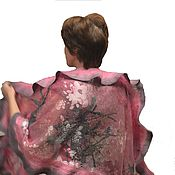 Аксессуары handmade. Livemaster - original item Felted silk tippet pink rose Scent. Handmade.