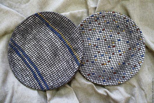 Тарелки ручной работы. Ярмарка Мастеров - ручная работа. Купить Тарелка декоративная. Handmade. Темно-серый, для сладостей, испанская глина
