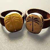 Украшения ручной работы. Ярмарка Мастеров - ручная работа Кольцо серебряное, кольцо с кожей,стильное кольцо, позолоченное кольцо. Handmade.