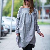 Одежда handmade. Livemaster - original item Stylish, loose cotton tunic - TU0476CT. Handmade.