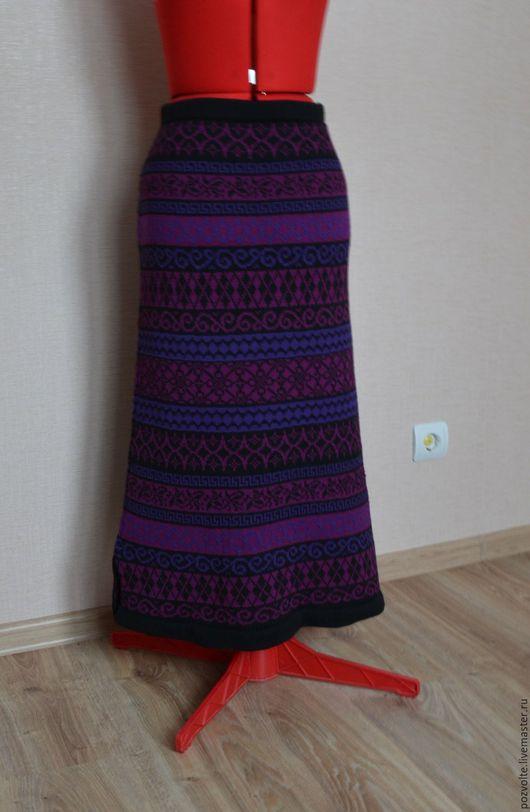 Юбки ручной работы. Ярмарка Мастеров - ручная работа. Купить Юбка длинная. Handmade. Комбинированный, юбка длинная, жаккардовая юбка