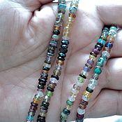 Материалы для творчества handmade. Livemaster - original item The stones are faceted mix roundels, 11cm thread. Handmade.
