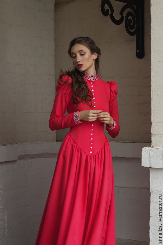 Floor-length dress 'Poetry' coral, Dresses, Moscow,  Фото №1