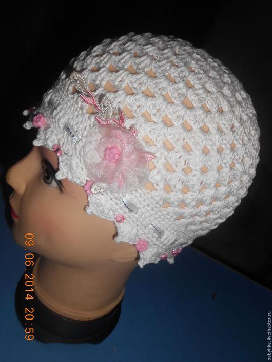 Панамы ручной работы. Ярмарка Мастеров - ручная работа. Купить Летняя шапочка. Handmade. Белый, для девочки