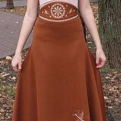 Одежда ручной работы. Ярмарка Мастеров - ручная работа Юбка из шерстяного трикотажа. Handmade.