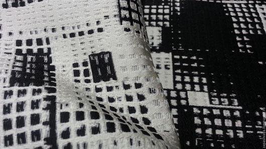 Шитье ручной работы. Ярмарка Мастеров - ручная работа. Купить Жаккард двухсторонний Черно-белый конструктивизм. Handmade. Купить ткань