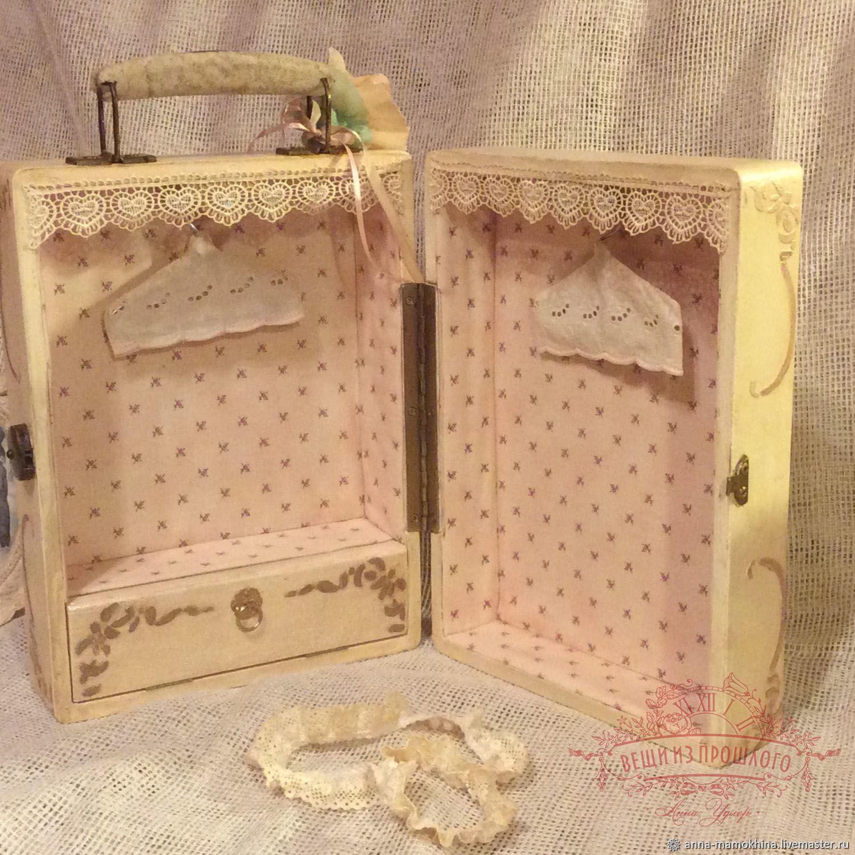 Чемодан Душечка, шкаф для кукол для игрушек