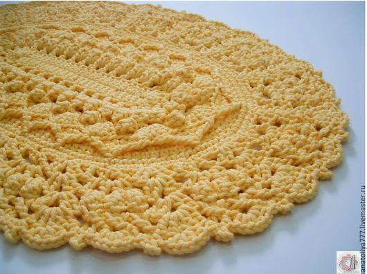 Текстиль, ковры ручной работы. Ярмарка Мастеров - ручная работа. Купить Ковер ручной работы вязаный из шнура Нежный. Handmade.