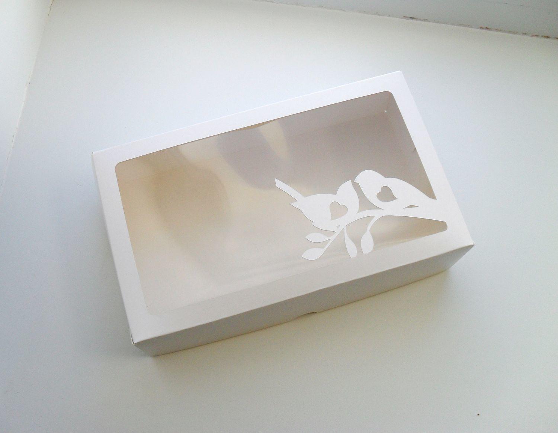 коробка коробочка белая картон крышка окно окошко для пряников козуль печенья конфет шоколада выпечки подарков мыла hand made упаковка купить самосборная прочная красивая 8 марта цветы птицы пташки