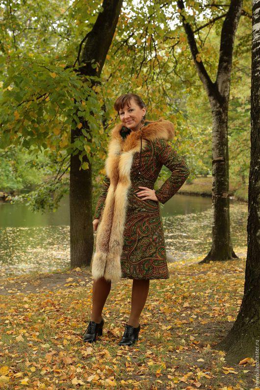 """Верхняя одежда ручной работы. Ярмарка Мастеров - ручная работа. Купить Пальто """"Краски осени"""". Handmade. Комбинированный"""