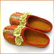 """Обувь ручной работы. Ярмарка Мастеров - ручная работа Тапочки """"Ромашки2"""". Handmade."""