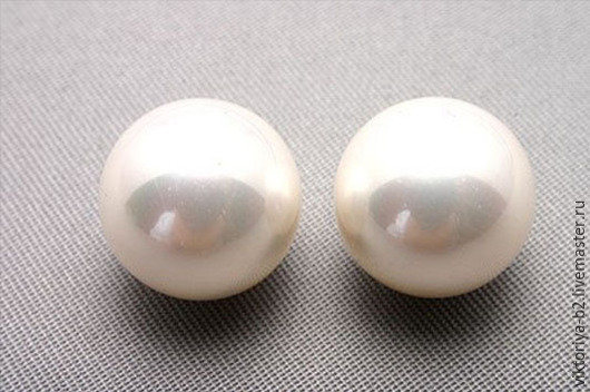 Для украшений ручной работы. Ярмарка Мастеров - ручная работа. Купить Жемчуг полусверленный shell pearl 12 мм, Южная Корея. Handmade.
