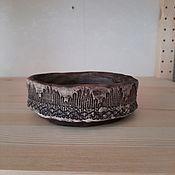 Для дома и интерьера handmade. Livemaster - original item Large clay candle holder with mandala. Handmade.