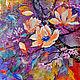 """Картины цветов ручной работы. Ярмарка Мастеров - ручная работа. Купить """"Магнолии и сакура"""" картина маслом. Handmade. Сиреневый, картина"""