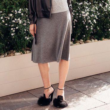 Одежда ручной работы. Ярмарка Мастеров - ручная работа Кашемировая юбка на поясе. Handmade.
