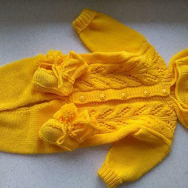 Одежда ручной работы. Ярмарка Мастеров - ручная работа Яркий детский комбинезон с капюшоном. Handmade.