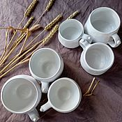 Посуда handmade. Livemaster - original item Dad, Mom, I... a set of cups. Handmade.