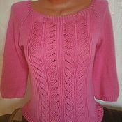"""Одежда ручной работы. Ярмарка Мастеров - ручная работа Пуловер """"розовый фламинго"""". Handmade."""