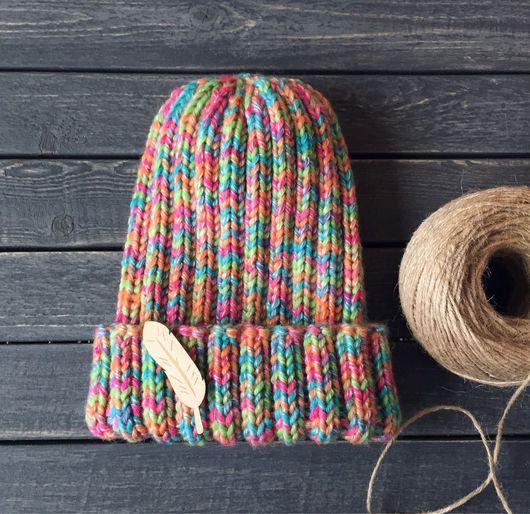 Шапки ручной работы. Ярмарка Мастеров - ручная работа. Купить Вязанная шапка. Handmade. Шапка, шапка вязаная, шапка женская