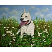 Картины и панно handmade. Livemaster - original item Painting with a dog