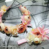Украшения ручной работы. Ярмарка Мастеров - ручная работа Цветочный комплект для мамы и дочки. Handmade.