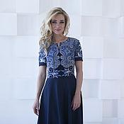 Одежда handmade. Livemaster - original item Dress blue elegant scarf from Pablopicasso frost. Handmade.