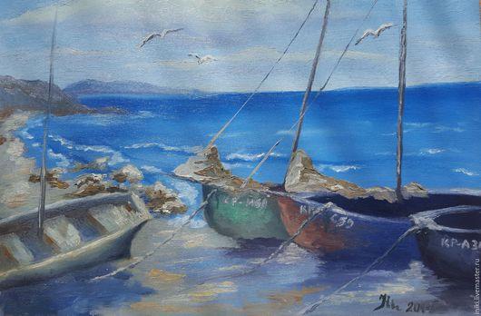 Никифорова И.М. Лодки 2014 Масло, холст. Фото лишь может передать информацию о сюжете,  фотография снижает качество картины, которая в интерьере смотрится в 2-3 раза лучше. (916)650-33-96