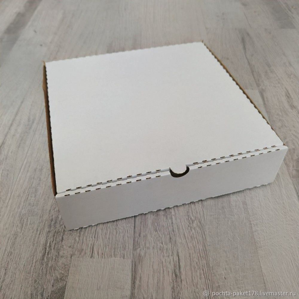 Коробка 24*24*6 см, белая, Коробки, Санкт-Петербург,  Фото №1