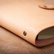 Канцелярские товары handmade. Livemaster - original item Nude Notepad on rings with a block of A5 sheets (21h14,5, cm). Handmade.