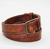Аксессуары handmade. Livemaster - original item Handmade genuine leather belt. Handmade.