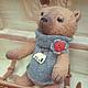 Мишки Тедди ручной работы. Ярмарка Мастеров - ручная работа. Купить Кода (24 см)...Любитель слонов. Тедди. Handmade.