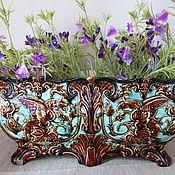 Винтаж handmade. Livemaster - original item Large Antique Pots Majolica Austria 42 cm Griffins. Handmade.