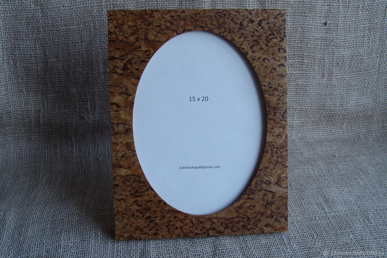 Souvenirs and gifts. Fair Masters - handmade. buy. Photo frame made of Karelian birch 15 x 20. Handmade.