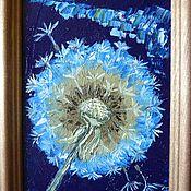 """Картины и панно ручной работы. Ярмарка Мастеров - ручная работа """"Ночной одуванчик"""" картина маслом ручной работы. Handmade."""