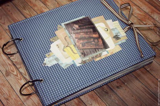 Мужской альбом  `Рыбное место` Работа Натальи Поршневой Living History Мастерская скрапбукинга