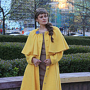 Одежда handmade. Livemaster - original item Coat with a Cape